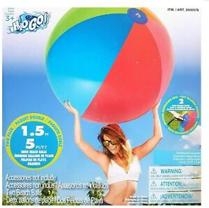2-Pack Bestway Giant H2O GO 1.5M (5 foot) Inflatable Large Beach Balls