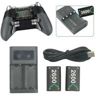 Rechargeable Battery Pack Charger Kit For Xbox One X/S Elite Wireless Controller