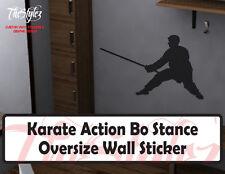 Karate Action Bo Staff Stance Oversize Wall Vinyl Sticker