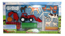 Deluxe Farm Country Life Farm Play Toy Set Tractor Trailer Animals Cow Sheep NEW