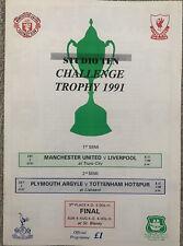 More details for studio ten challenge trophy 1991 in cornwall - incl liverpool & manchester utd