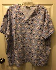 UA Uniform Advantage Scrub Top Size 2XL Cats Cats Cats Pink Blue Grey