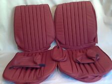 Mercedes Benz seat covers 450SL RED Vinly