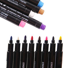 8Colors Permanent Fabric Paint Marker T-Shirt Pen For Clothes Shoes DIY Graffiti