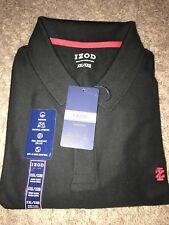NWT Mens 2XL IZOD Black XXLarge Large Polo Style Golf Shirt MSRP $44