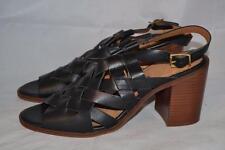 Office Women's Leather Ankle strap Block Heels