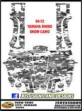 Yamaha Rhino 04-12 side by side SNOW CAMO 450 660 700 Wrap Decal Sticker kit