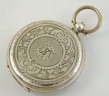 Late 1800s Antique .800 Swiss Hallmark Silver Pocket Watch Needs Work LAYBY AV