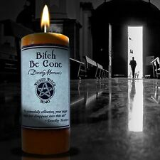 MOJO CANDLE * Bitch Be Gone * Pillar Candle Wiccan Pagan Metaphysical