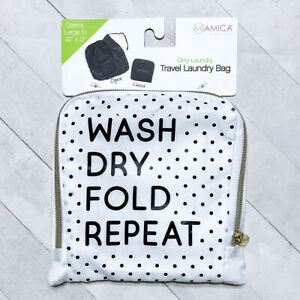 Miamica Travel Laundry Bag Compact Eco Friendly Reusable His Hers