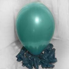 100 x Latex Turquoise Balloons Wedding Party Helium