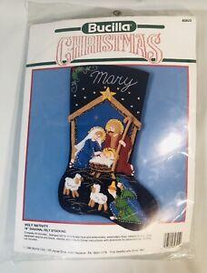 Bucilla Holy Family Nativity Manger Christmas Holiday Felt Stocking Kit 82825