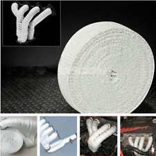 White 2'' x 50' Vehicle Exhaust Insulating Manifold Thermal Heat Temp Wrap Strip