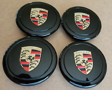Porsche 911 930 944 Fuchs Wheels Center Caps Factory OEM set of 4 Colored Crest
