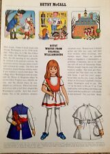 Betsy McCall Mag. Paper Doll, Betsy McCall Writes From Williamsburg, Feb. 1971