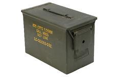 US Army Empty Olive Large Metal Ammo Box Used Military Surplus Storage Used