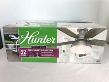 "*Hunter Mill Valley Ceiling Fan w/Light Kit 52"" 5-Blade Matte Grey LED 59311 NEW"