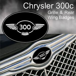 Chrysler 300c 300 Wing Logo Grille and Rear Wing Badge Emblems