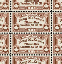 Custom Return Address Stamps - for Canada! - 40 Gummed & Perforated Stamps