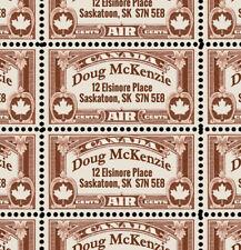 Custom Return Address Stamps - for Canada! - 40 Gummed & Perforated Stamps