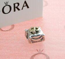PANDORA WEDDING RING SILVER, 14K GOLD & DIAMOND CHARM 790549D