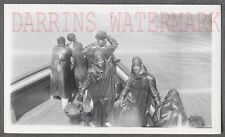 Unusual Vintage Photo Men in Rain Ponchos on Maid of the Mist Boat 706494