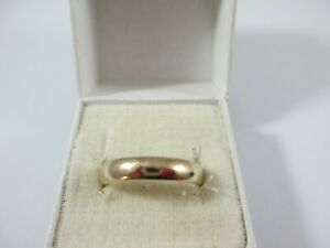 """LOVELY VINTAGE, FULLY HALLMARKED 9ct GOLD """"D"""" BAND RING UK SIZE L1/2  3.8g  4mm"""