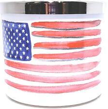 Bath & Body Works American Flag 3 Wick Jar Candle 14 oz. Fire Cracker Pop Scent