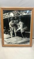 Babe Ruth New York Yankees & Chicago White Sox bat boy - B&W photo -11x14 framed