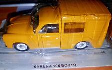 Syrena 105 Bosto Gialla Furgone - Scala 1:43 - DeAgostini - Nuova