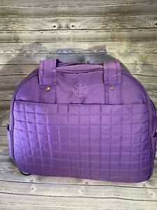 Gaiam Yoga Bag 100% polyester Purple Gym Tote Bag Quilted Yoga Mat Carrier