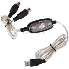 New 6 Feet USB to MIDI Keyboard Interface Converter Cable Adapter Black US