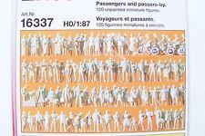 HO Preiser 120 UNPAINTED Passenger / Passers-by Figures KIT # 16337
