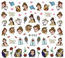 Nail Art Stickers Water Decals Transfers Beauty And The Beast Cartoon (M+543)