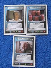 Star TREK TNG TRADING CARDS 3er Set suspicion, Reginald Barclay, Alexander Star Empire