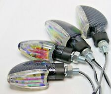 4X LED Motorcycle Turn Signal CARBON LOOK LIGHT FOR KTM RC390 390 RC EXC SUPERMO