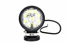 Autosound LED Work Light Round 27W 10-30V Flood Beam