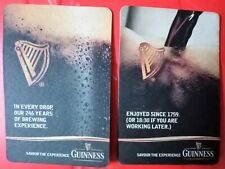 2 Guinness Savour The Experience Rectangle Coaster Black