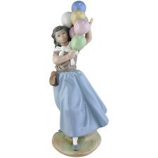 LLADRO Porcelain Figurine 5141 Balloon Seller Girl Selling Balloons Mint in Box