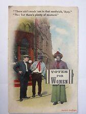 Suffragette PC Satire:  Men Commenting on Suffragette, a man in women's clothes