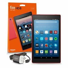 """Amazon Kindle Fire HD 8 8"""" 32GB Wi-Fi Tablet with Alexa - Red (7 Gen)2017 Latest"""