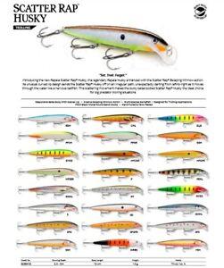 Rapala Scatter Rap Husky // SCRH13 // 13cm 12g Fishing Lures (Choice of Colors)