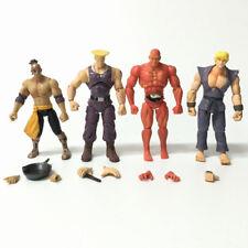 4pcs Toys JAZWARES STREET FIGHTER EL Gulie KEN Red RYU 4inch Action FIGURE Gift