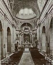 Nave, High Altar,Church of Val-de-Grace, Paris, France,Magic Lantern Glass Slide