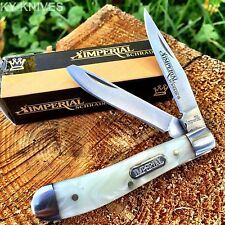 "Imperial Schrade Cracked Ice Pearl 2 3/4"" Small Trapper Pocket Knife New! Imp13F"