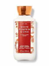 Bath and Body Works White Pumpkin & Chai 24 Hour Moisture Body Lotion 8oz New