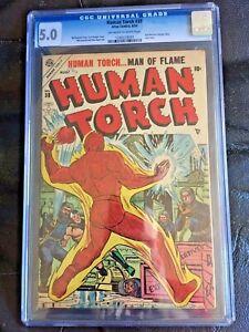 HUMAN TORCH #38 CGC VG/FN 5.0; OW-W; scarce!