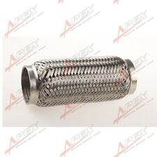 "2.5"" Exhaust Flex Pipe 8"" Length Stainless Steel Coupling Interlock"