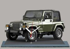 MODEL CARS, JEEP-WRANGLER-03, car passenger,11,8x 7,8 inches  with Clock
