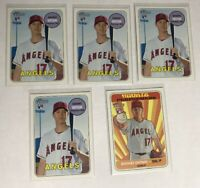 2018 Topps Heritage Shohei Ohtani 5 ct RC Rookie Lot Los Angeles Angels